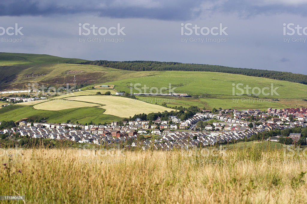 Gilfach Goch in Wales, UK stock photo