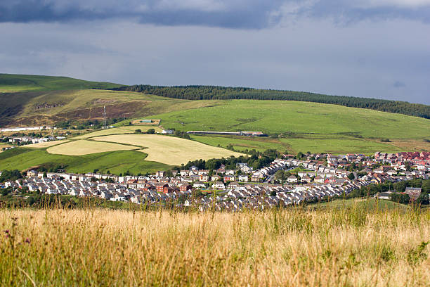 "Gilfach Goch in Wales, UK ""This small village is located in the South Wales valleys, about 10km north east of Bridgend, south Wales."" south wales stock pictures, royalty-free photos & images"