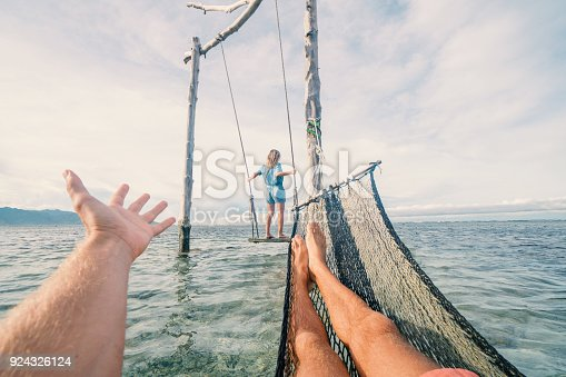 910783248 istock photo Gili T famous swing over the sea, Indonesia 924326124