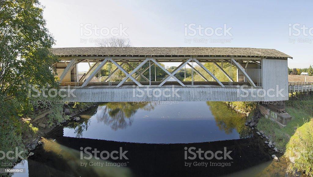 Gilkey Covered Bridge in Oregon royalty-free stock photo