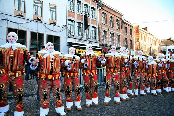 Gille'Tanz, Shrove Tuesday, Binche Carnival, Belgien. – Foto