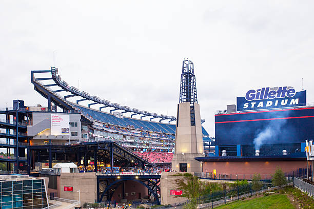 Gillette Stadium stock photo