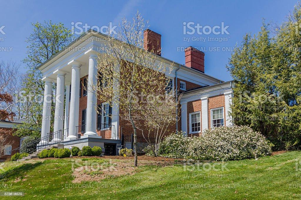 Gilliam Admissions House at Washington and Lee University stock photo