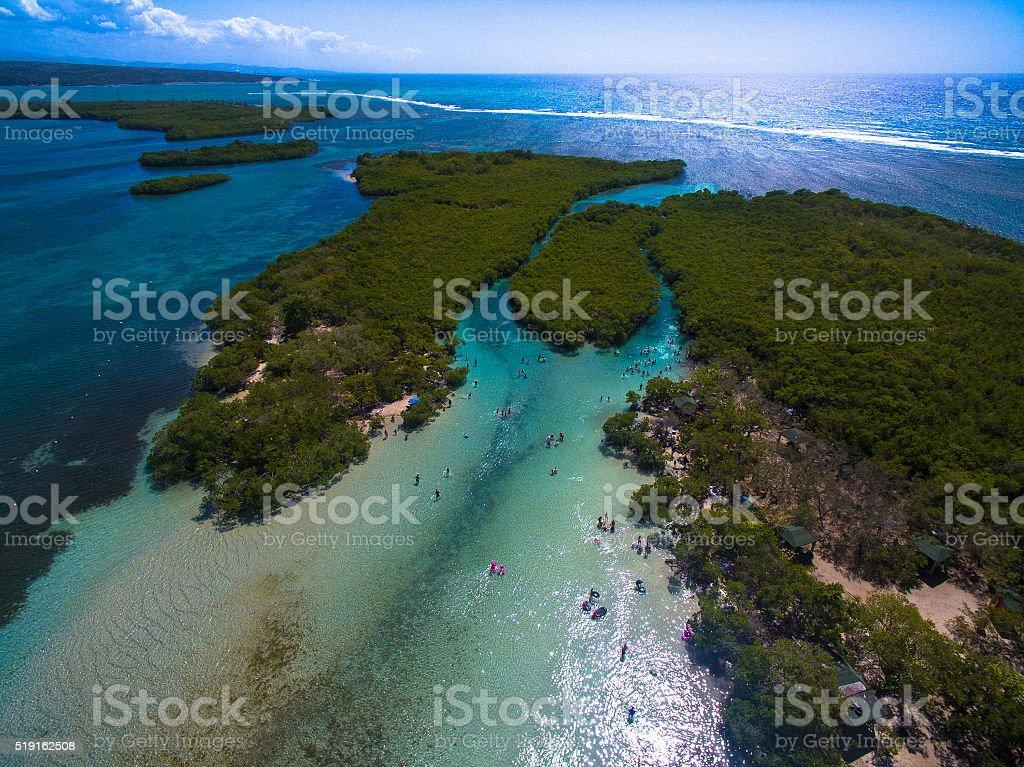 Gilligan's Island Guanica, Puerto Rico stock photo