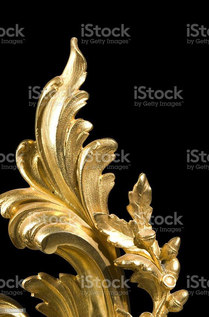 Gilt Bronze Scrolling Detail royalty-free stock photo