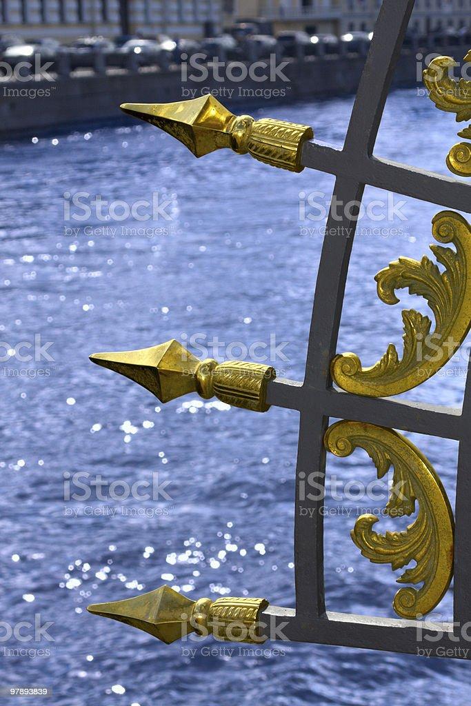 gilt lattice royalty-free stock photo