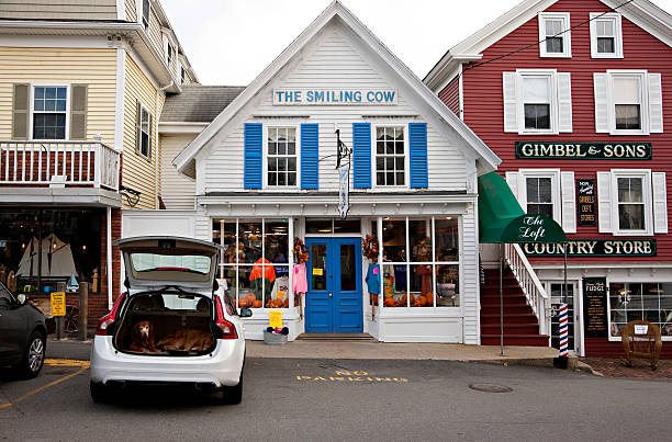 Gimbel & Sons Country Store and The Smiling Cow Shops stock photo