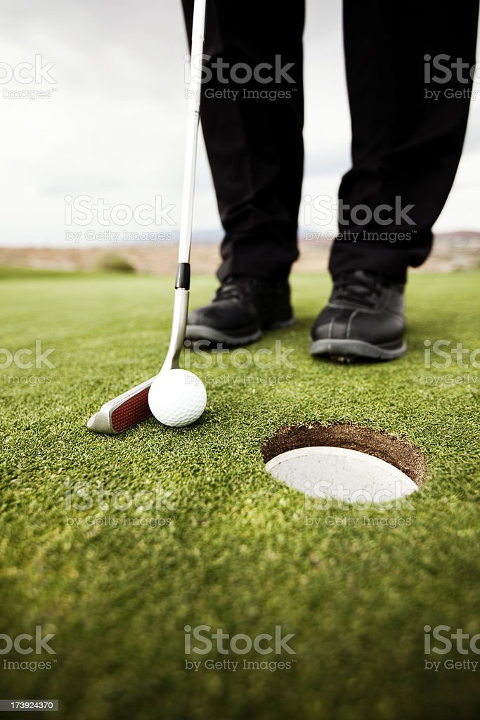Gimme Putt royalty-free stock photo