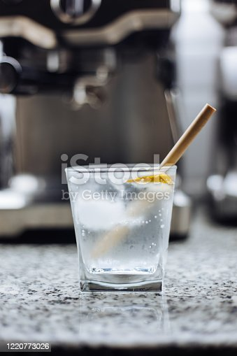 Gin and Tonic on counter