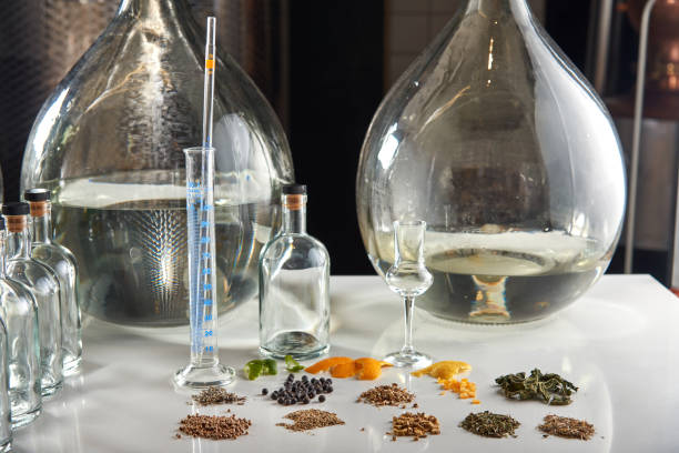Gin ingredients stock photo