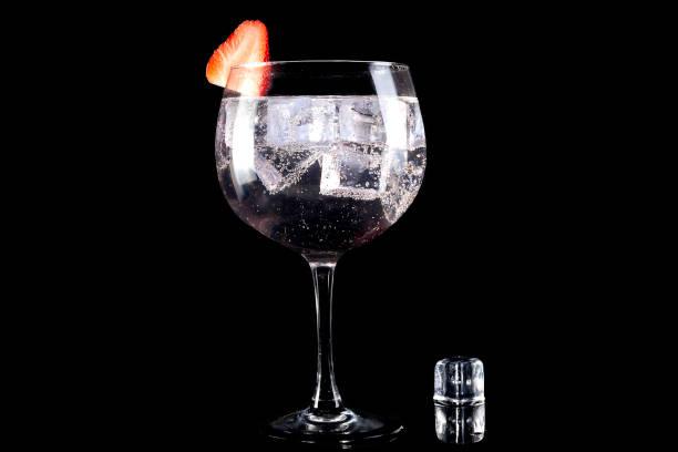 Cubo de gin tonic y el hielo - foto de stock