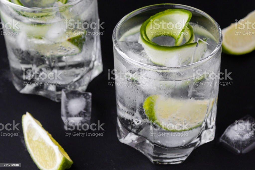 gin tonic drink stock photo