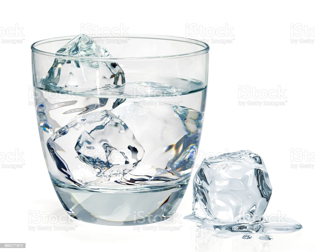 Gin, vodka or icy water - foto stock