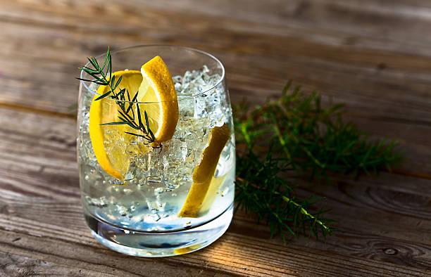 Gin, de citron et de glace - Photo