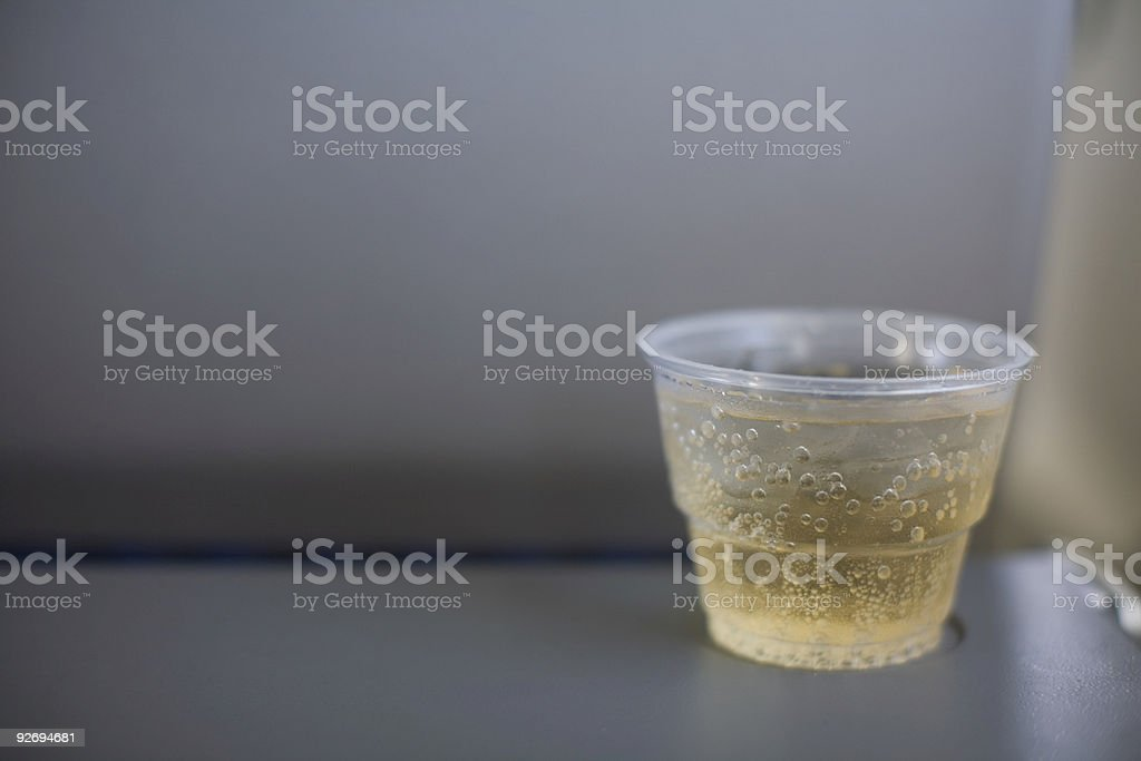 Ginger Ale on a Plane stock photo