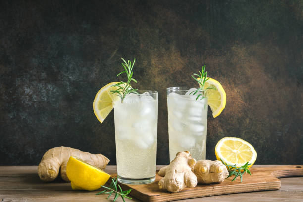 ginger ale - ginger stock photos and pictures