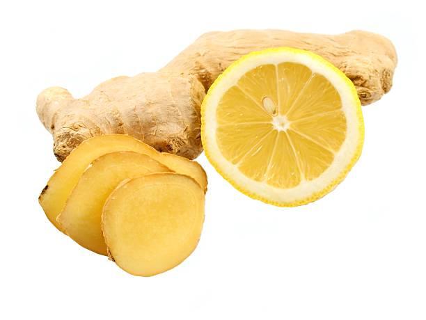 Ingwer- und Zitronenöl – Foto