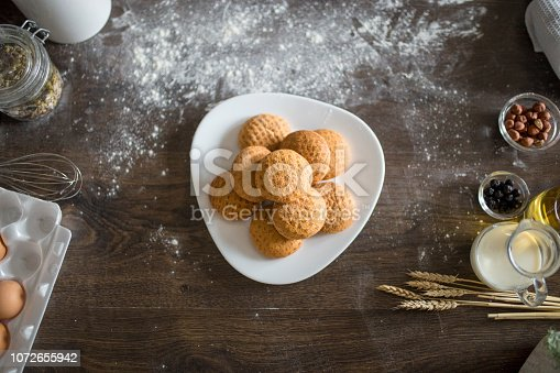 Ginger bread cookies on a plate