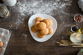 istock Ginger bread cookies on a plate 1072655942