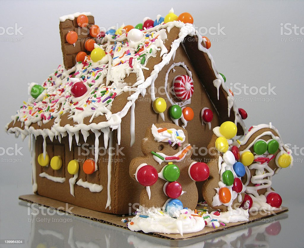 ginger bread house royalty-free stock photo