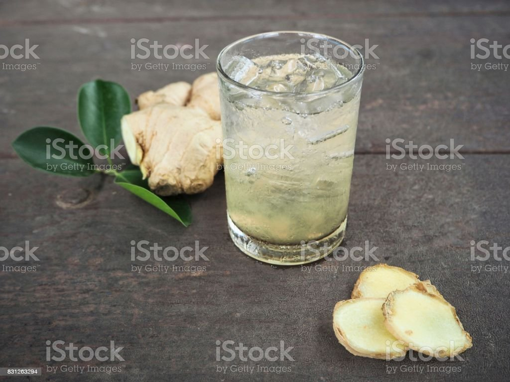Ginger cocktail stock photo