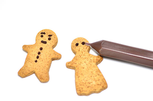 Ginger Cookie. stock photo