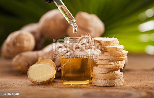 istock Ginger Essential oil 641574348