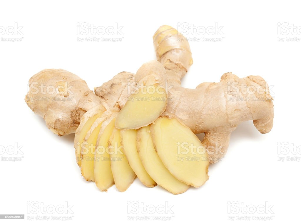 Ginger isolated on white background royalty-free stock photo