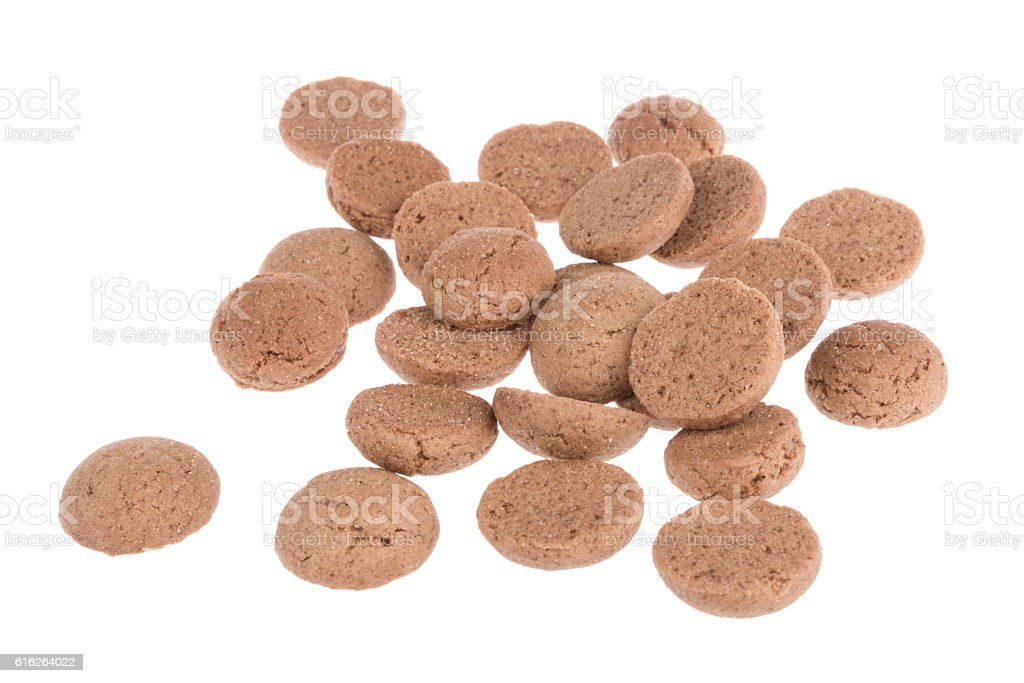 Ginger nuts, typical Dutch candy for Sinterklaas event in december stock photo