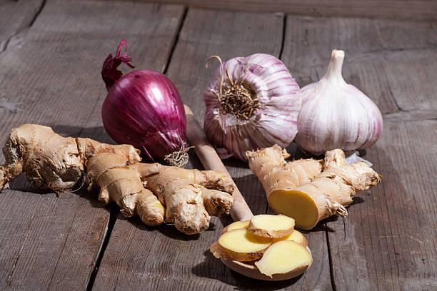 Ginger Zwiebeln und Knoblauch – Foto