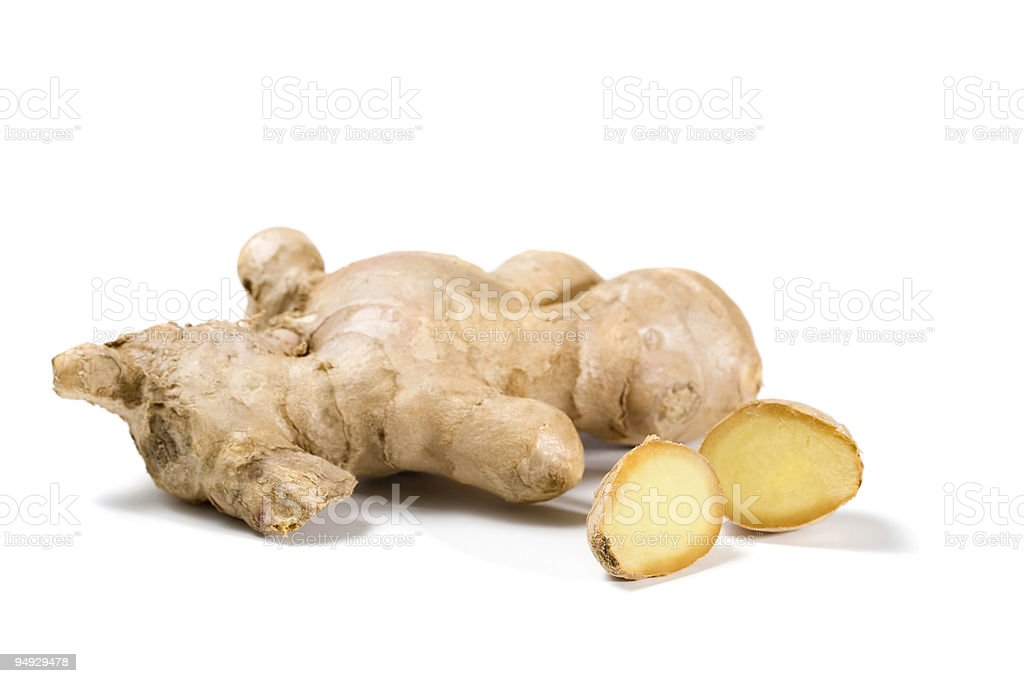ginger roots isolated royalty-free stock photo