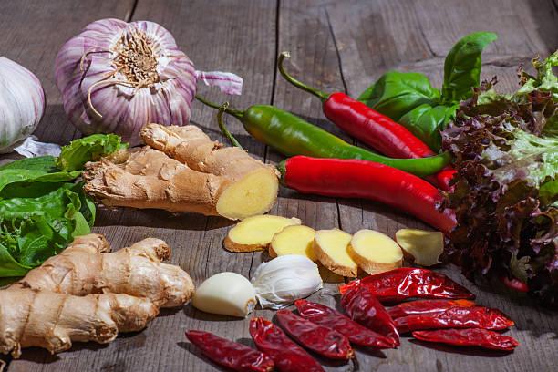 Ingwer und Gemüse Scheiben – Foto