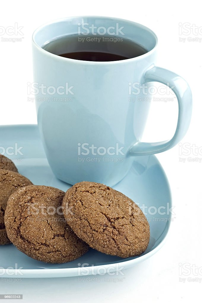 Ginger snaps and tea royalty-free stock photo