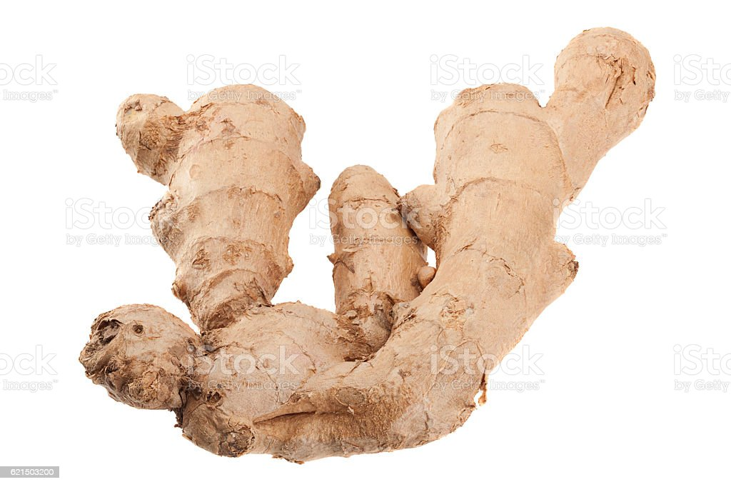 Ginger spice root isolated foto stock royalty-free