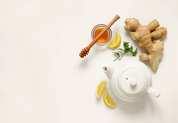 ginger tea ingredients - ginger stock photos and pictures