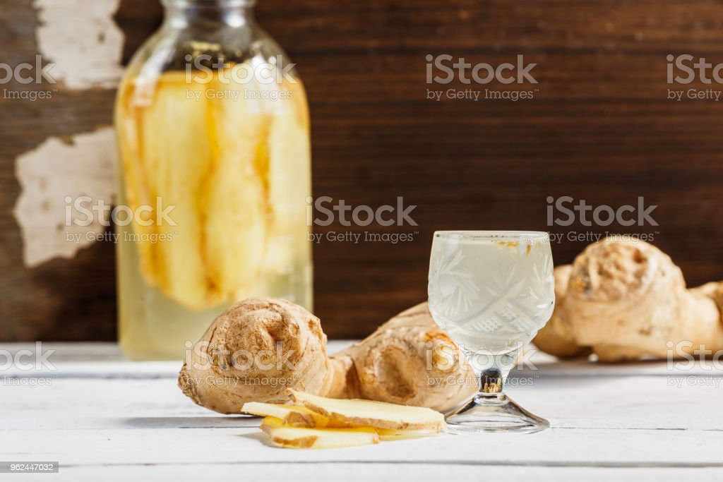 Ginger Tincture Alternative Medicine Useful Tincture For Health On A