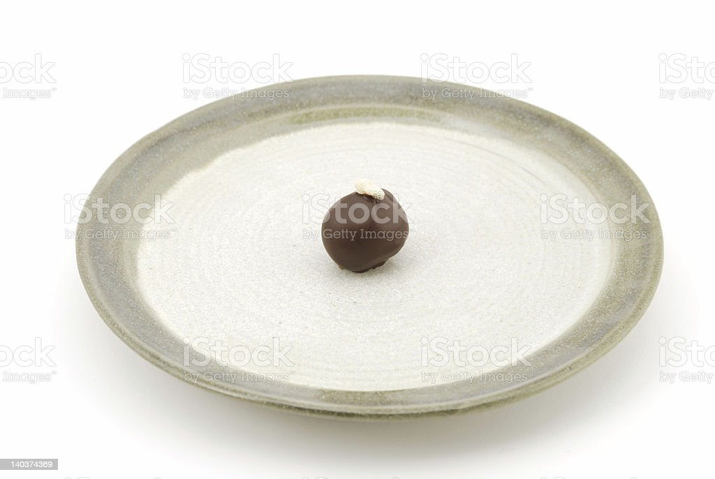 Ginger Truffle on a Plate royalty-free stock photo