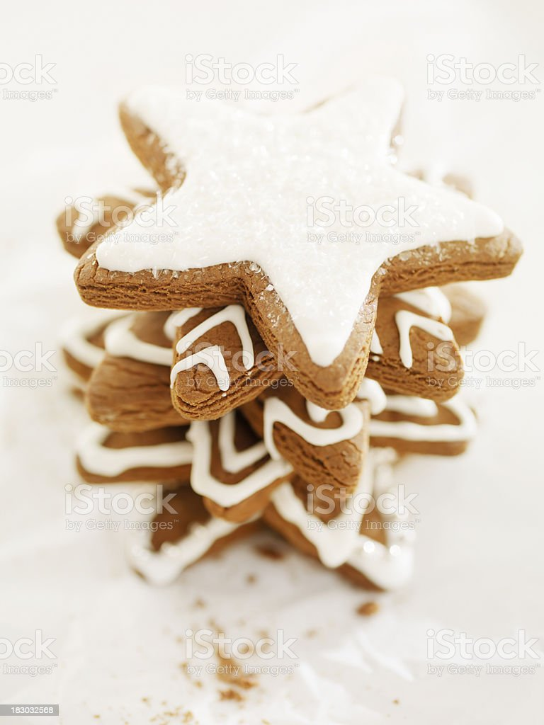 Gingerbread Cookies at Christmas Time royalty-free stock photo