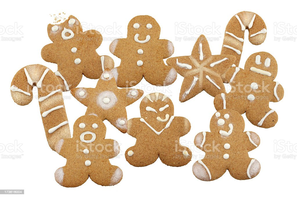 Gingerbread Cookies Collage royalty-free stock photo