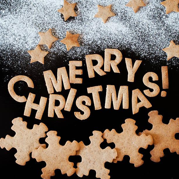 진저브레드 쿠키, 축하, 메리 크리스마스 스톡 사진