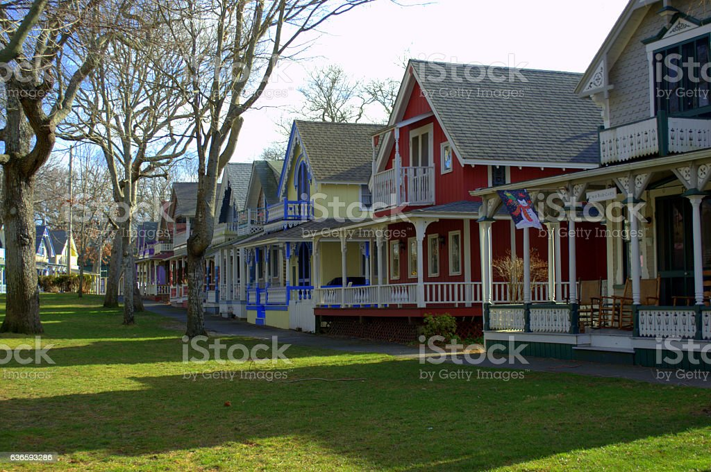 Gingerbread Cottages of Martha's Vineyard stock photo