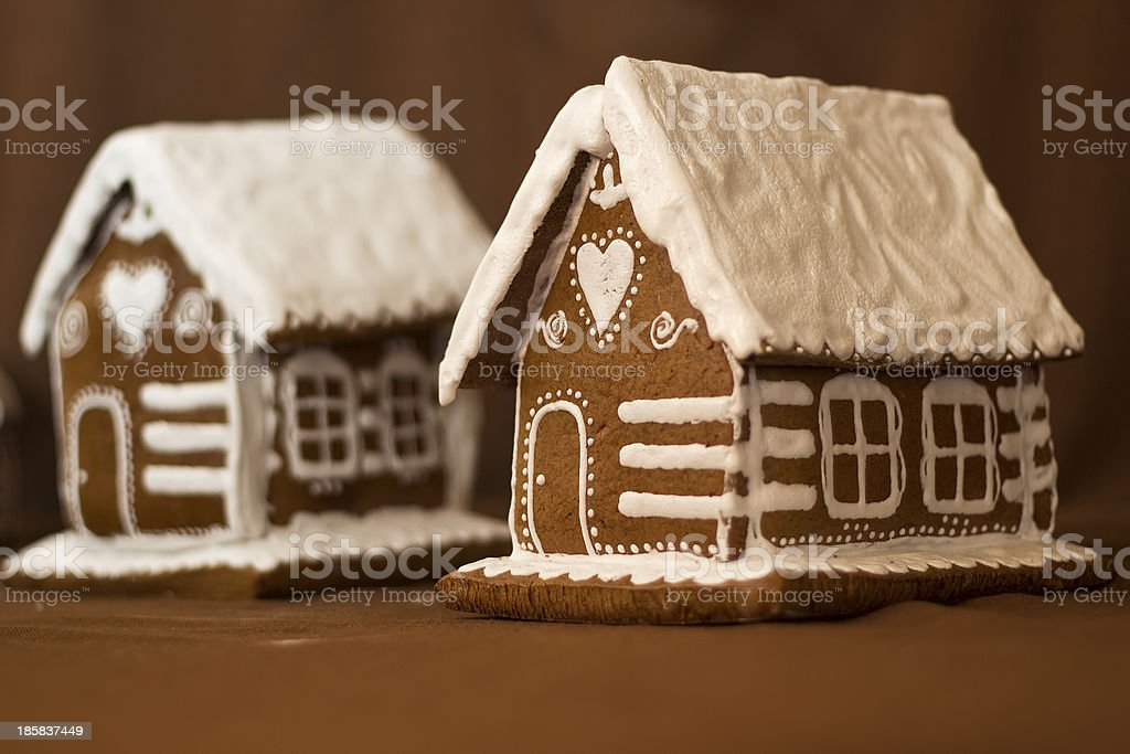 Gingerbread cottages royalty-free stock photo