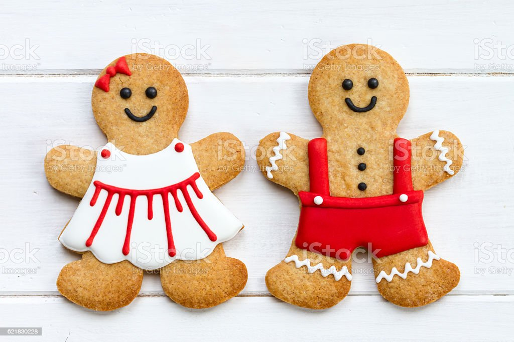Gingerbread couple stock photo