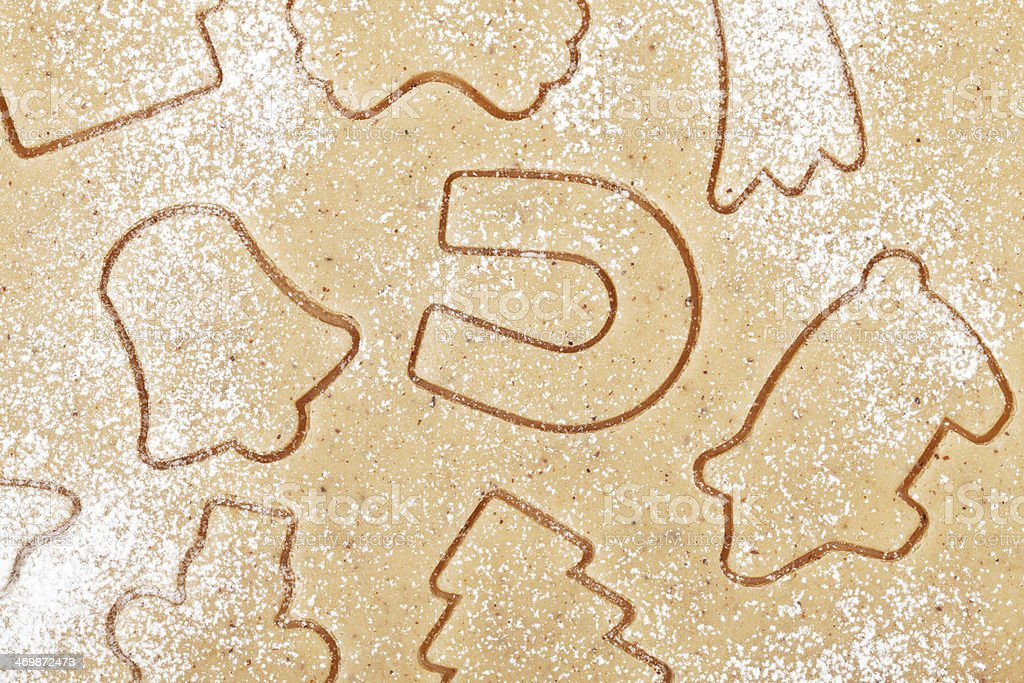 Gingerbread dough for christmas cookies royalty-free stock photo