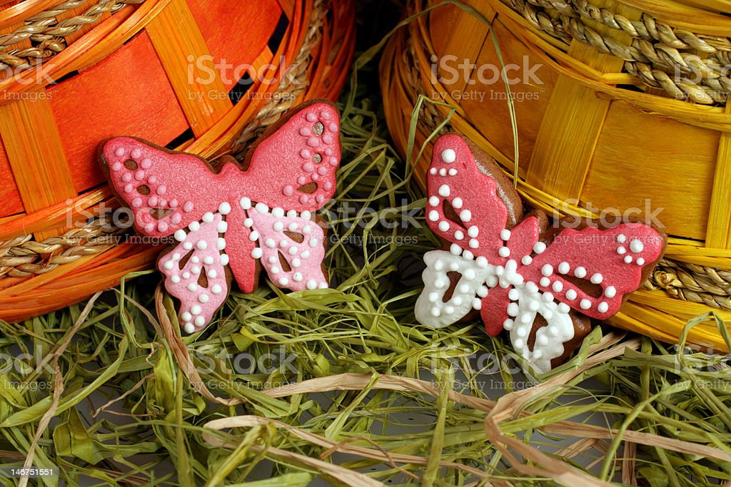 Gingerbread easter decoration royalty-free stock photo
