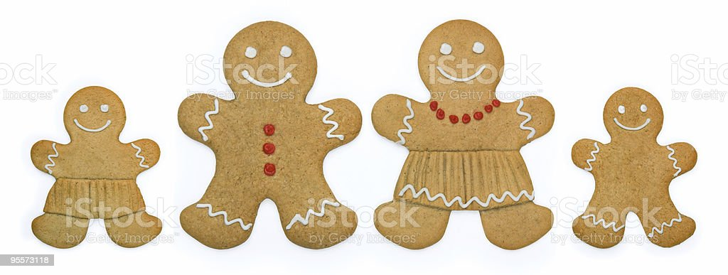 Gingerbread family royalty-free stock photo