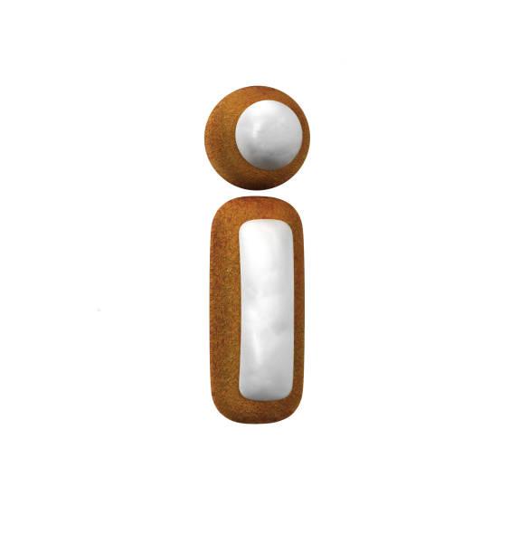 진저는 폰트입니다. 크리스마스 쿠키 알파벳 개념입니다. 작은 편지 i 스톡 사진