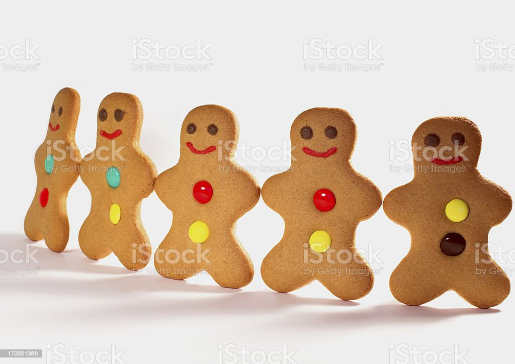 gingerbread group royalty-free stock photo