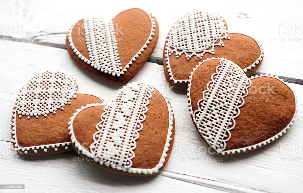 Gingerbread Heart Cookies Stock Photo Download Image Now Istock
