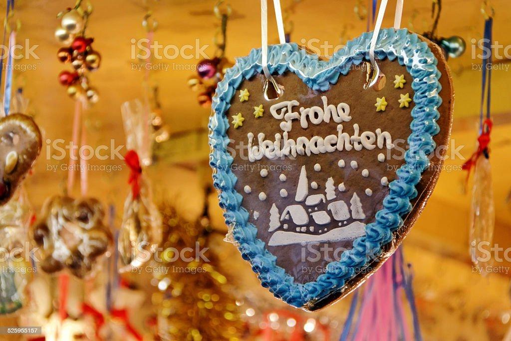 gingerbread heart - Lebkuchenherz stock photo